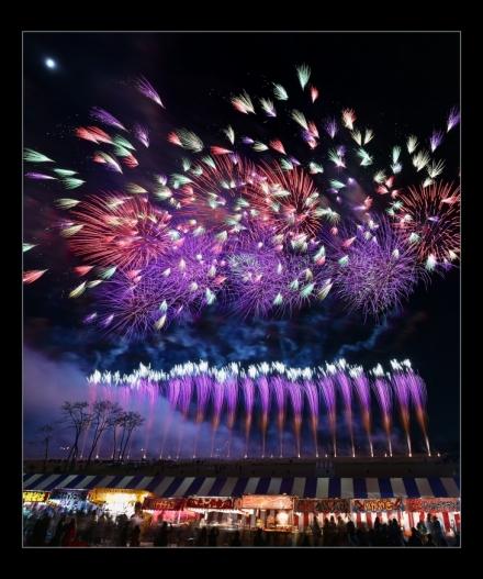 에비스강 불꽃놀이 대회(長野えびす講煙火大会)